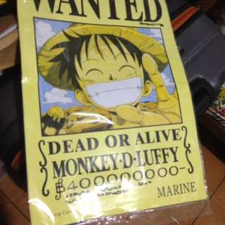 One piece poster (Luffy wanted poster)