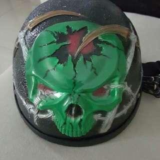 Half Skull Helmet Handmade. Sesuai Untuk Rider Cooper.(scamer2 Go To Hell Busted!)