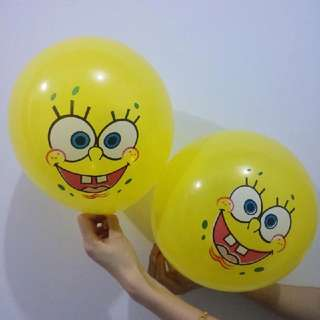 10 pcs Spongebob Latex Balloons