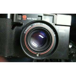 底片 f1. 9 af35m canon 自動對焦 單眼相機 含前蓋 手腕帶 電池