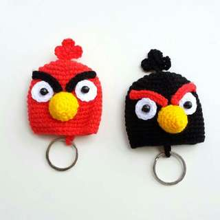 Gifts: Handmade Angry Bird Crochet Knit Key Protective cover