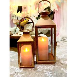 For Rent: Rose gold candle holders