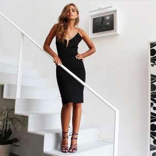 MAURICE & EVE Size 6 Dance Tonight Dress In Black