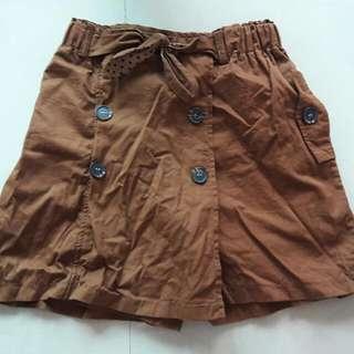 女大童純棉造型短褲