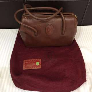 Cartier Classic Boston Bag Brown Made in Italy