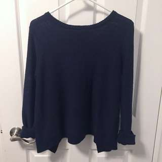 Tobi open back sweater size xs in Navy