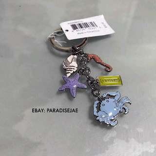 GENUINE  COACH Keyring (Beach/ Sea Design)