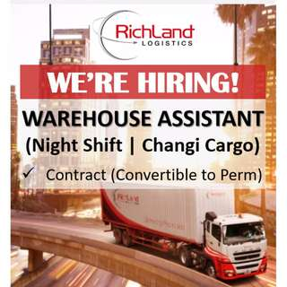 Warehouse Assistant (Night Shift | Changi Cargo)