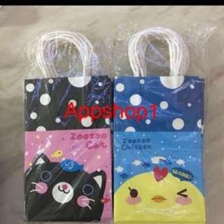 Cute paper bag- zoozoo cat / zoozoo chick
