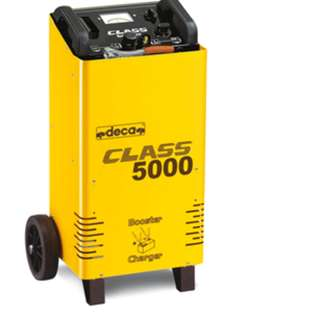DECA CLASS BOOSTER 5000 Wheel-carried battery charger with starter for quick boosting