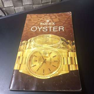 Rolex oyster catalogue booklet