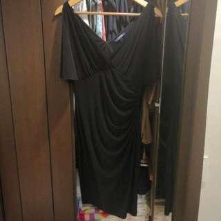 Chaps Black Formal Dress