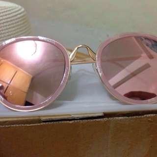 粉色鏡面墨鏡(全新)