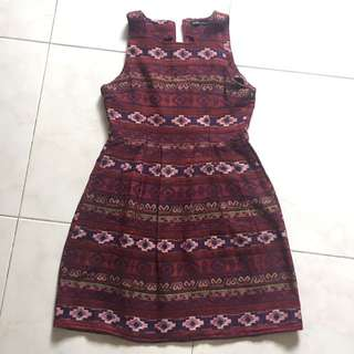 Aztec print sleeveless dress