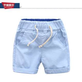 Boys Clothing Boys Trousers Fashionable Colorful Linen Shorts 1-6Y