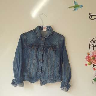 *REDUCED *Denim Jean Jacket Buttons Girls Size 14 Or Womens 4/6