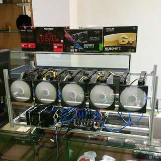 8 GPU Very Low Power & High Performance Mining Rig - 227mh/s - Fast ROI