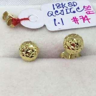 18k saudi gold pawnable earrings