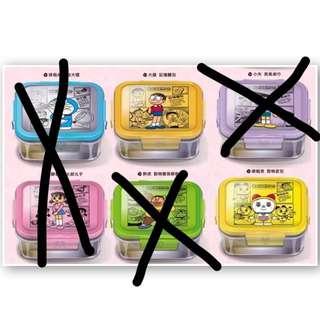 哆啦A夢美食道具微波玻璃便當盒