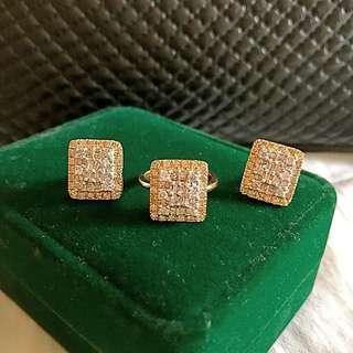 14K Diamond Set