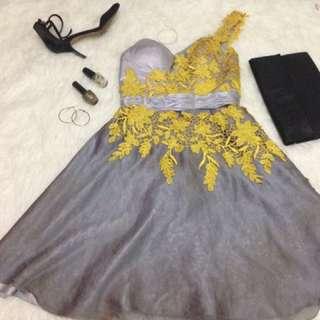 Dress Pesta Silver
