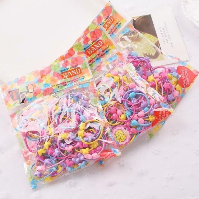 ❤兒童糖果色造型橡皮筋(1包50條 )❤