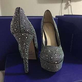 Diamond covered heels