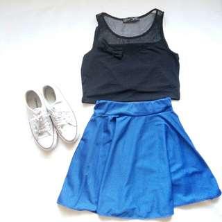 Blue skater skirts