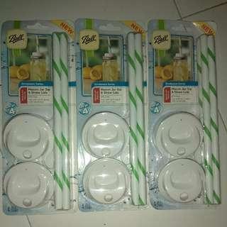 mason jar sip and straw lids (regular mouth)
