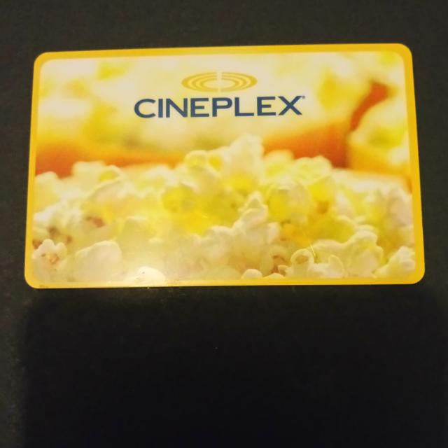 $15 Cineplex Gift Card