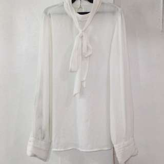 Forever 21 White corporate blouse