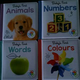 Good Deal -4 Board Books-Suitable for 6 months and up!