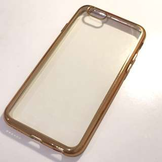 iPhone 6 Case - Clear with Gold Borders