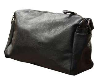 優質PU軟皮大容量小郵差斜孭袋