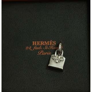 95% New HERMES Amulettes Birkin Charm 925 純銀 頸鏈 吊墜
