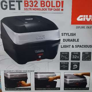 Givi B32 Mulebox Monolock Top Case For Spark / X1R / 125Z / Jupiter / Sniper / Wave / Super 4 / Yamaha / Honda Bikes