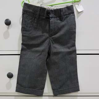GAP baby boy trousers pants 12-18m front and back pockets cuffed ankle  formal wear