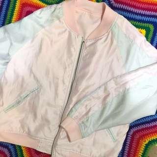 Japan reversible bomber jacket pink💗
