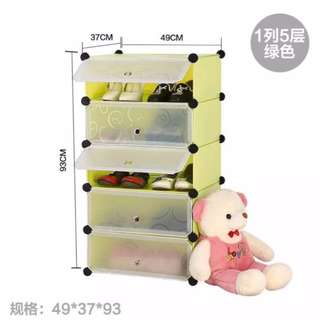 DIY 5 Cube Shoe Cabinet with Doors Free Delivery in all NCR Area Cash On Delivery Nationwide
