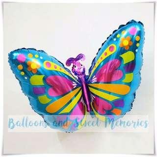 BLUE BUTTERFLY Foil Balloon