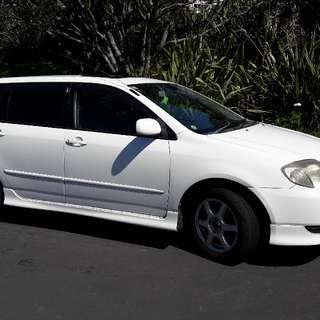 2001 Toyota Corolla Fielder auto wagon white