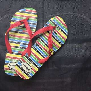 Make Your Own Havaianas Red strap Sz 39/40