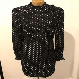 Portmans black and white polka dot dress