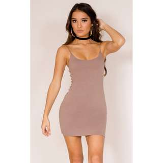 Dark mocha bodycon dress