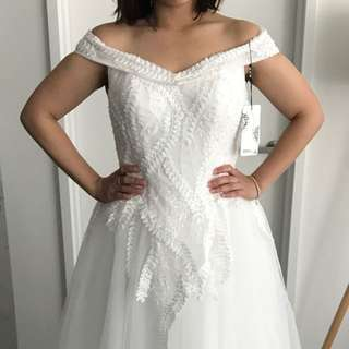 Sequined ball wedding dress with sleeves