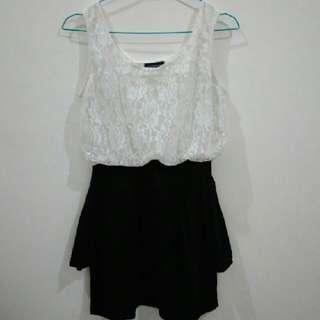 Black Anda White Dress