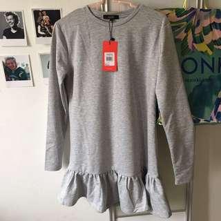 BNWT Nichii Long top / knee length grey dress