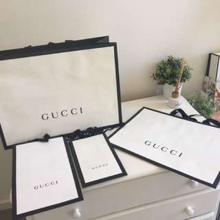 AUTHENTIC Gucci Paper Bags