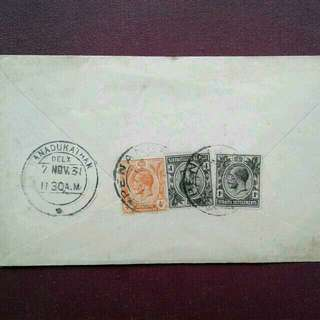 1931 Malaysia Penang Used Cover $3 Registered Mail