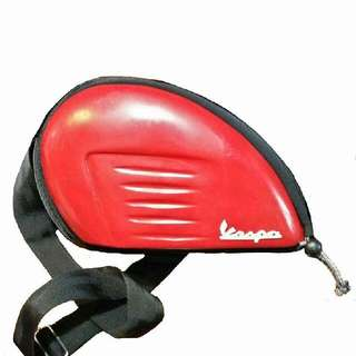 Sling Bag Vespa Last Red Colours.. Meterial Fiber Class Not Plastics.. Real Vespa Body
